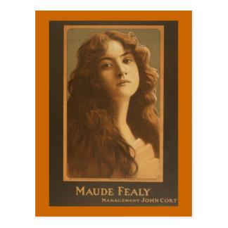 Poster del teatro del vintage de Maude Fealy Postal