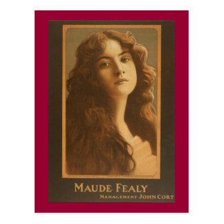 Poster del teatro del vintage de Maude Fealy Postales