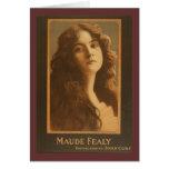 Poster del teatro del vintage de Maude Fealy Felicitación