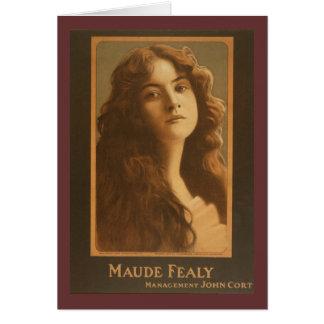 Poster del teatro del vintage de Maude Fealy Tarjeta De Felicitación