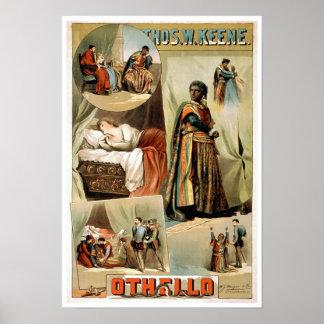 Poster del teatro del vintage de Othello