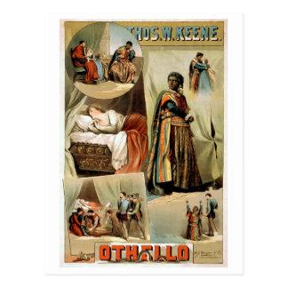 Poster del teatro del vintage de Othello Tarjeta Postal