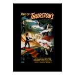 Poster del teatro del vintage del mago de Thurston