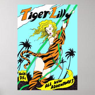 """""""Poster del Tebeos-estilo de la aventura de Lilly"""