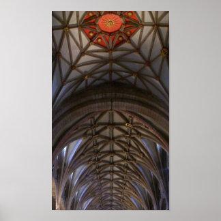Poster del techo de la abadía de Tewkesbury