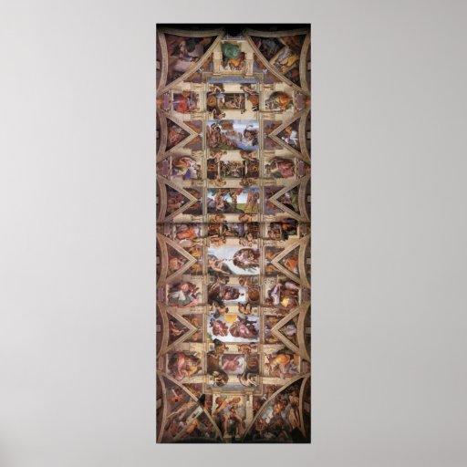 Poster del techo de la capilla de Sistine
