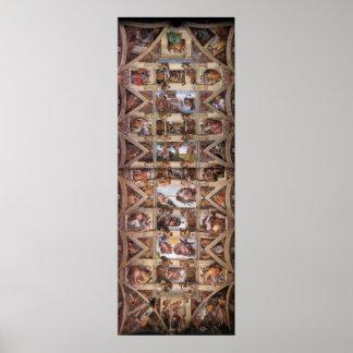 Poster del techo de la capilla de Sistine Póster