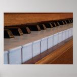Poster del teclado de piano