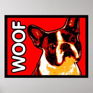 Poster del TEJIDO de Boston Terrier