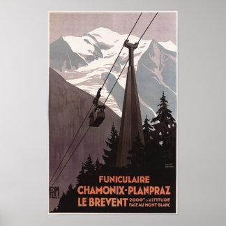 Poster del teleférico de Funiculaire Le Brevent