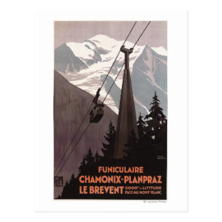 Poster del teleférico de Funiculaire Le Brevent Postal