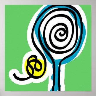 Poster del tenis con diseño colorido