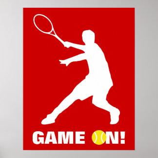 Poster del tenis con el juego de encargo de la cit