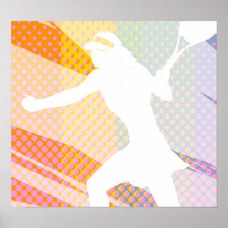 Poster del tenis con imagen del tennisbabe