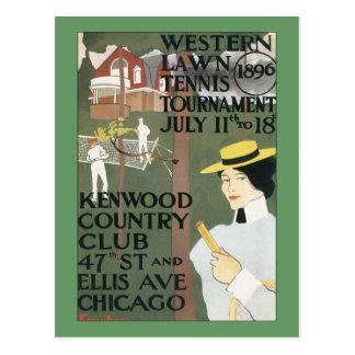 Poster del tenis de Chicago del vintage Postal