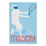 ¡Poster del tenis - partido determinado del juego!