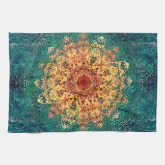 Poster del tesoro del paraíso toallas de mano