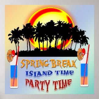 Poster del tiempo de la isla de las vacaciones de