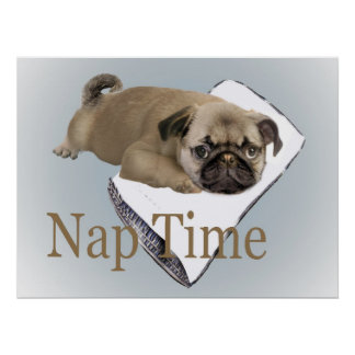 Poster del tiempo de la siesta del barro amasado