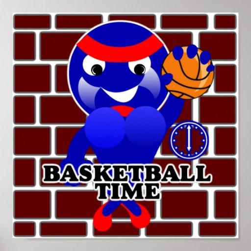 Poster del tiempo del baloncesto