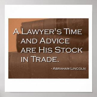 Poster del tiempo y del consejo de un abogado