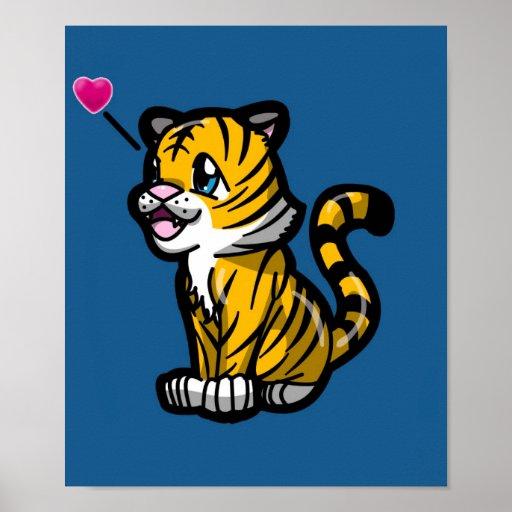 Poster del tigre de Chibi