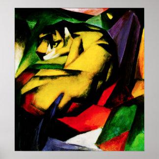 Poster del tigre de Franz Marc