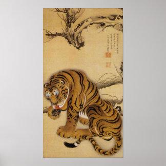 Poster del tigre de Ito Jakuchu