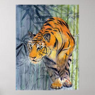 Poster del tigre de Tsuyako