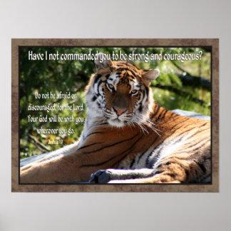 Poster del tigre del 1:9 de Joshua