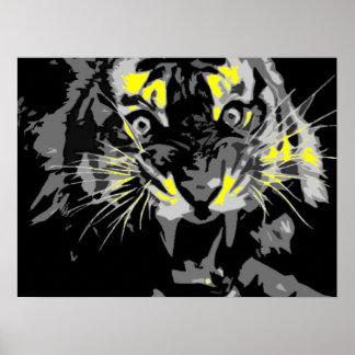 Poster del tigre del rugido