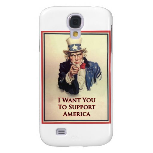Poster del tío Sam de la ayuda Funda Para Galaxy S4