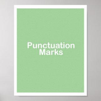 Poster del título de los signos de puntuación
