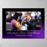 Poster del topetón del puño de Obama