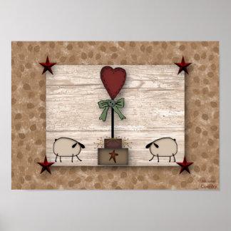 Poster del Topiary del corazón