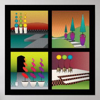 Poster del Topiary - frontera negra