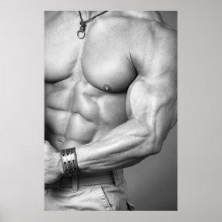 Poster del torso del Bodybuilder