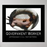 Poster del trabajador del gobierno