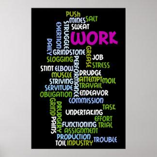 "Poster del ""trabajo"""