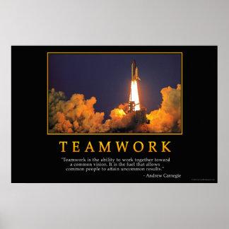 Poster del trabajo en equipo