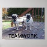 ¡Poster del trabajo en equipo! ¡Barros amasados qu