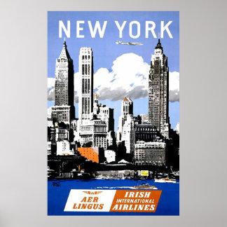 Poster del transporte aéreo de New York City del