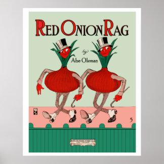 Poster del trapo de la cebolla roja