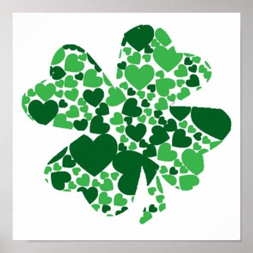 Poster del trébol del trébol del día de St Patrick