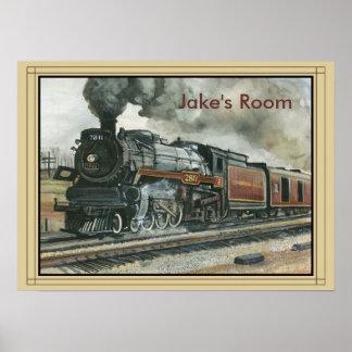 Poster del tren con la frontera