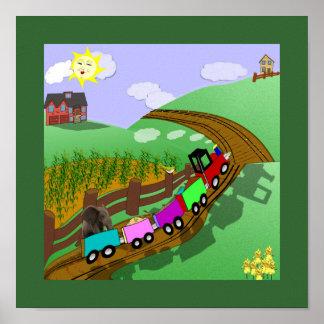 Poster del tren de Choo Choo