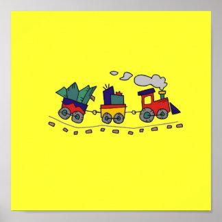 Poster del tren de Choo Choo hasta 15x15