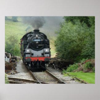 Poster del tren del motor de vapor