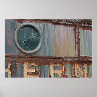 Poster del tren del vintage