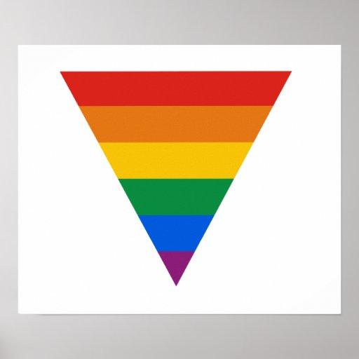 Poster del triángulo del orgullo gay